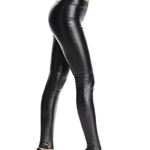 Wolford Estella Leggings, Faux Leather Pants